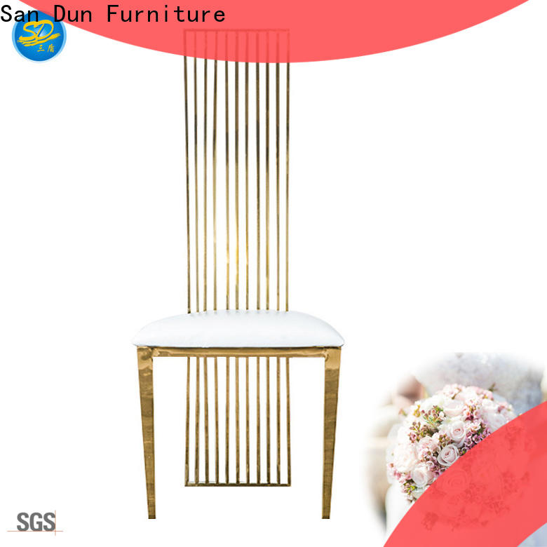 San Dun hot-sale dining chairs with stainless steel legs best manufacturer for hotel