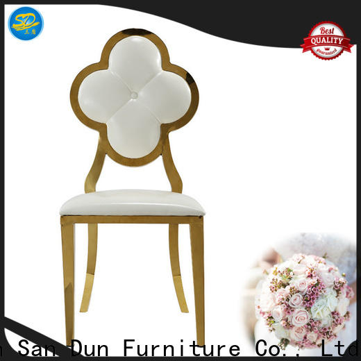 San Dun eco-friendly gold metal chair factory direct supply bulk buy