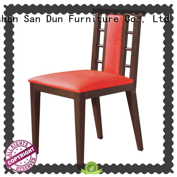 Wholesale black wood upholstered dining chairs tea San Dun Brand