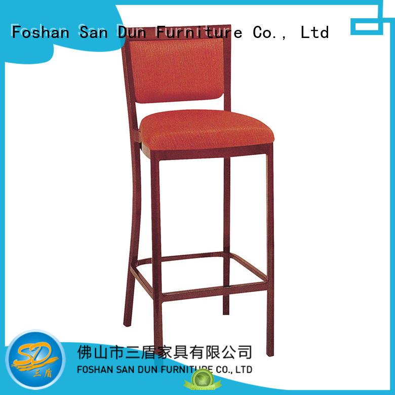 San Dun classical wood and leather bar stools furniture lobby