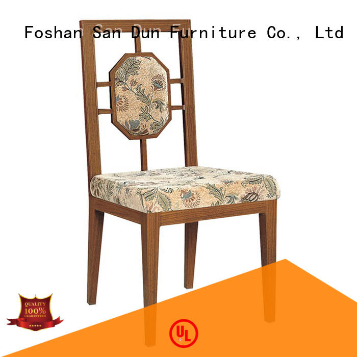 ya092 wooden chair with fabric seat China restaurant San Dun