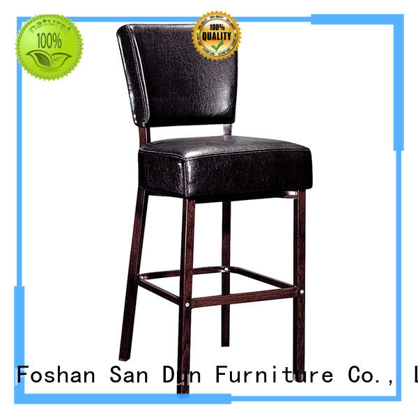 Hot stool leather bar stools banquet restaurant San Dun Brand