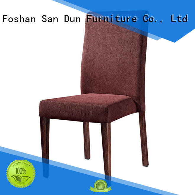 dining cafeteria fabric San Dun Brand wooden dining chairs