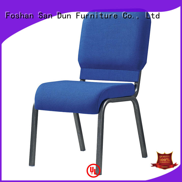 blue navy chair San Dun Brand chairs with steel legs factory
