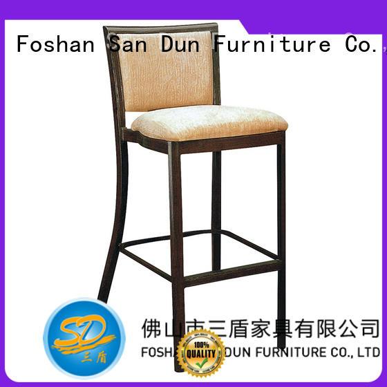 Wholesale metal silver leather bar stools San Dun Brand