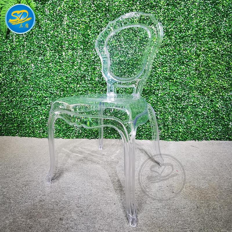 WEDDING PARTY RESIN CHAIR QUEEN CRYSTAL CHAIR YRC-012