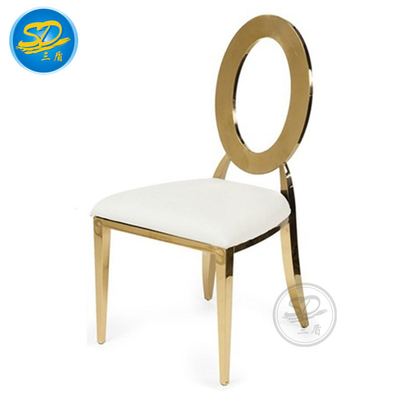 BUTTERFLY BACK DESIGN GOLDEN STAINLESS STEEL HOTEL BANQUET BALLROOM CHAIR YS-009