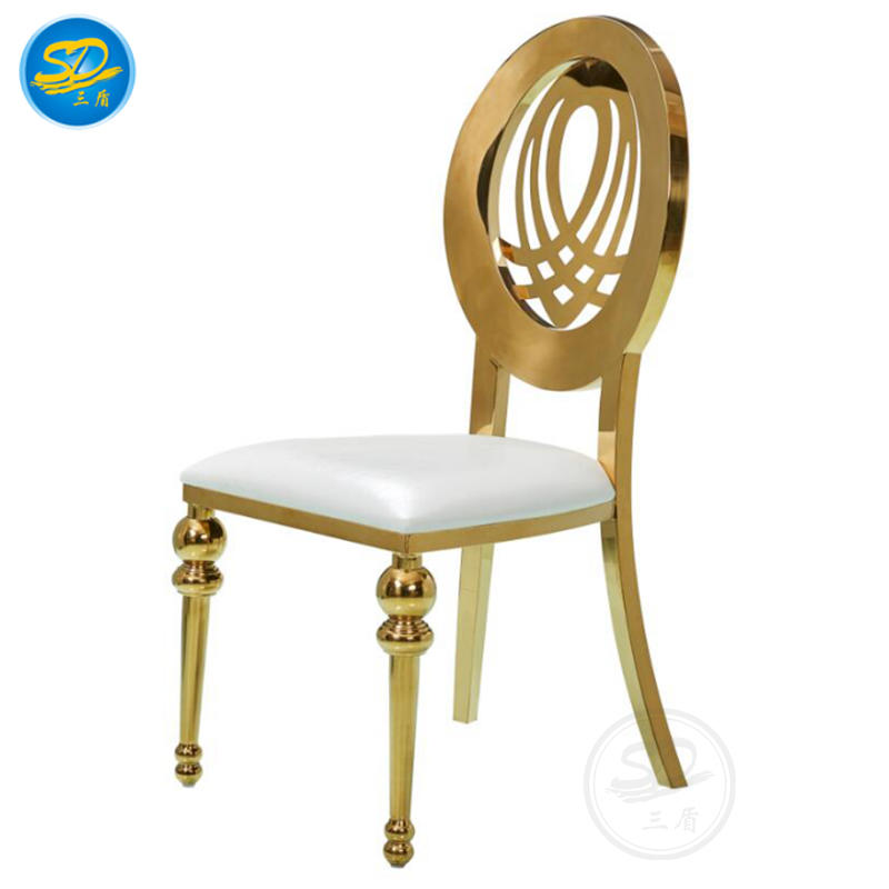 HOT SALE MIDDLE EAST HOTEL BANQUET STAINLESS STEEL CHAIR  YS-004