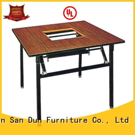 Square Wooden Hot Pot Table Laminate  Folding Restaurant Table YF-019