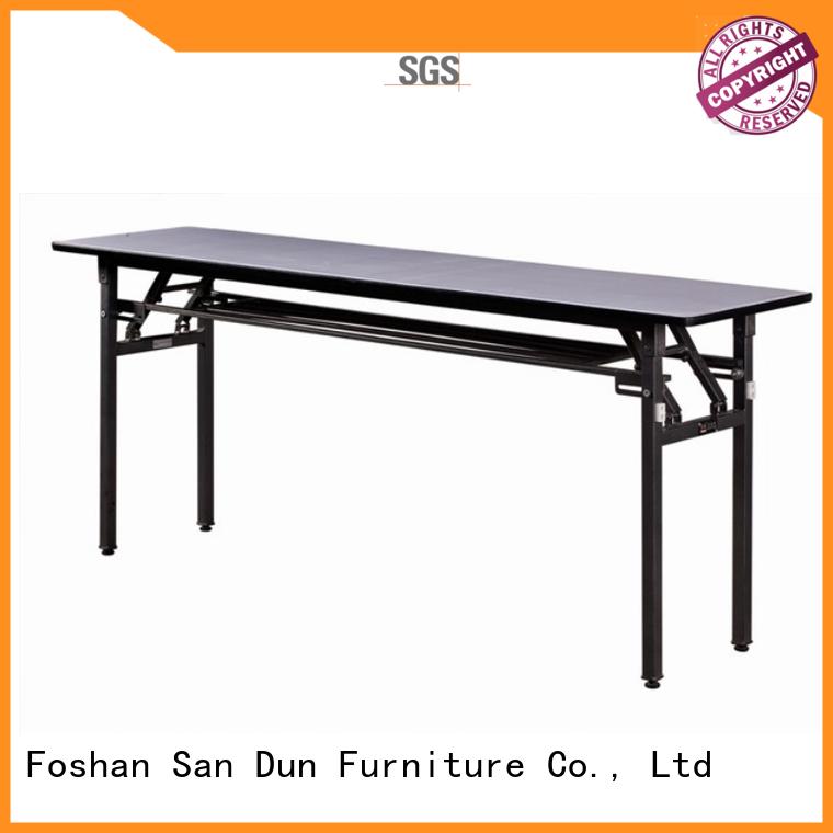 White PVC Folding Table Meeting Room Rectangular Training Table YF-011