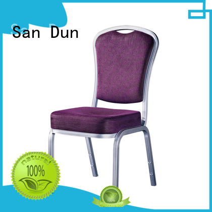 San Dun promotional stackable aluminum chairs directly sale bulk production