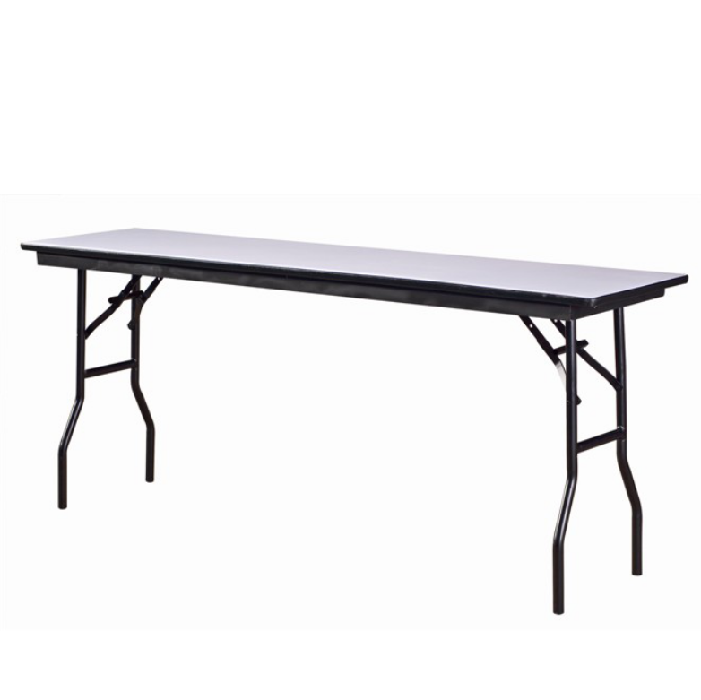 Banquet Rectangular Wooden Table Folding Steel Frame Table YF-013