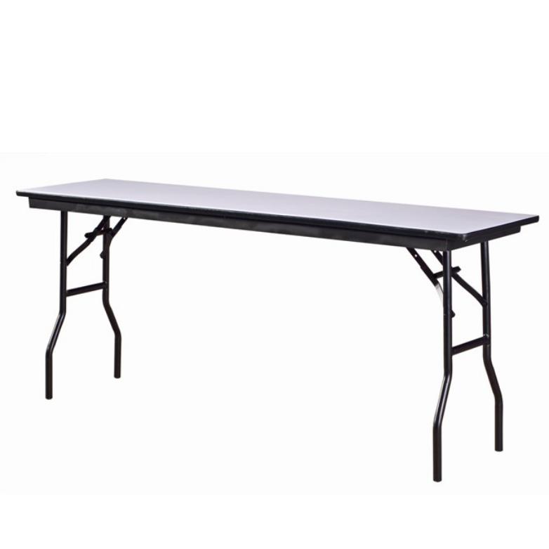 Banquet Rectangular Wooden Table Folding Steel Frame Table YF-013