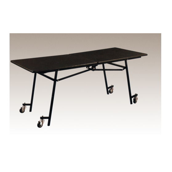 Movable Wheels Design Rectangular-Half Folding Table For Conference Meeting Room  YF-015