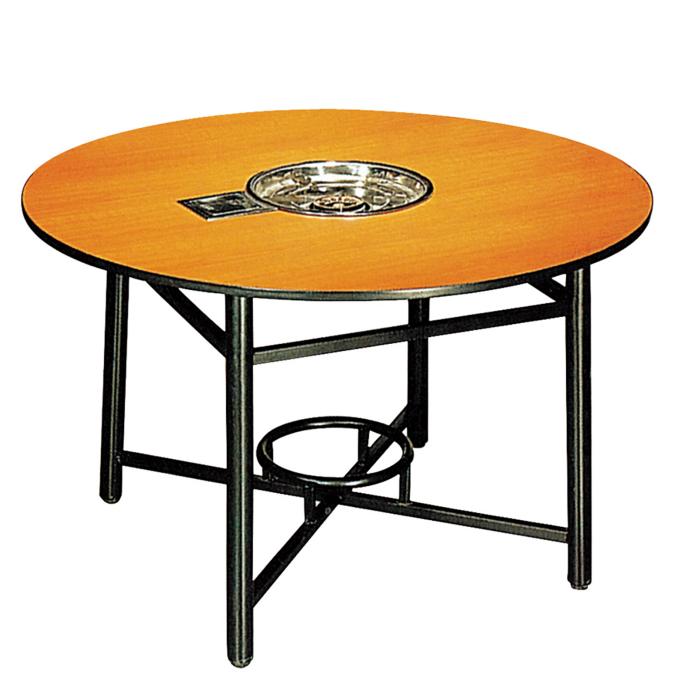 Round Laminate  Hot Pot Table  Restaurant Table YF-017