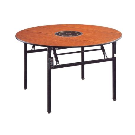 Round  Hot Pot Table Laminate  Folding  Restaurant Table YF-018