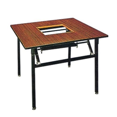 Square Wooden Hot Pot Table Laminate  Folding Restaurant Table YF-019