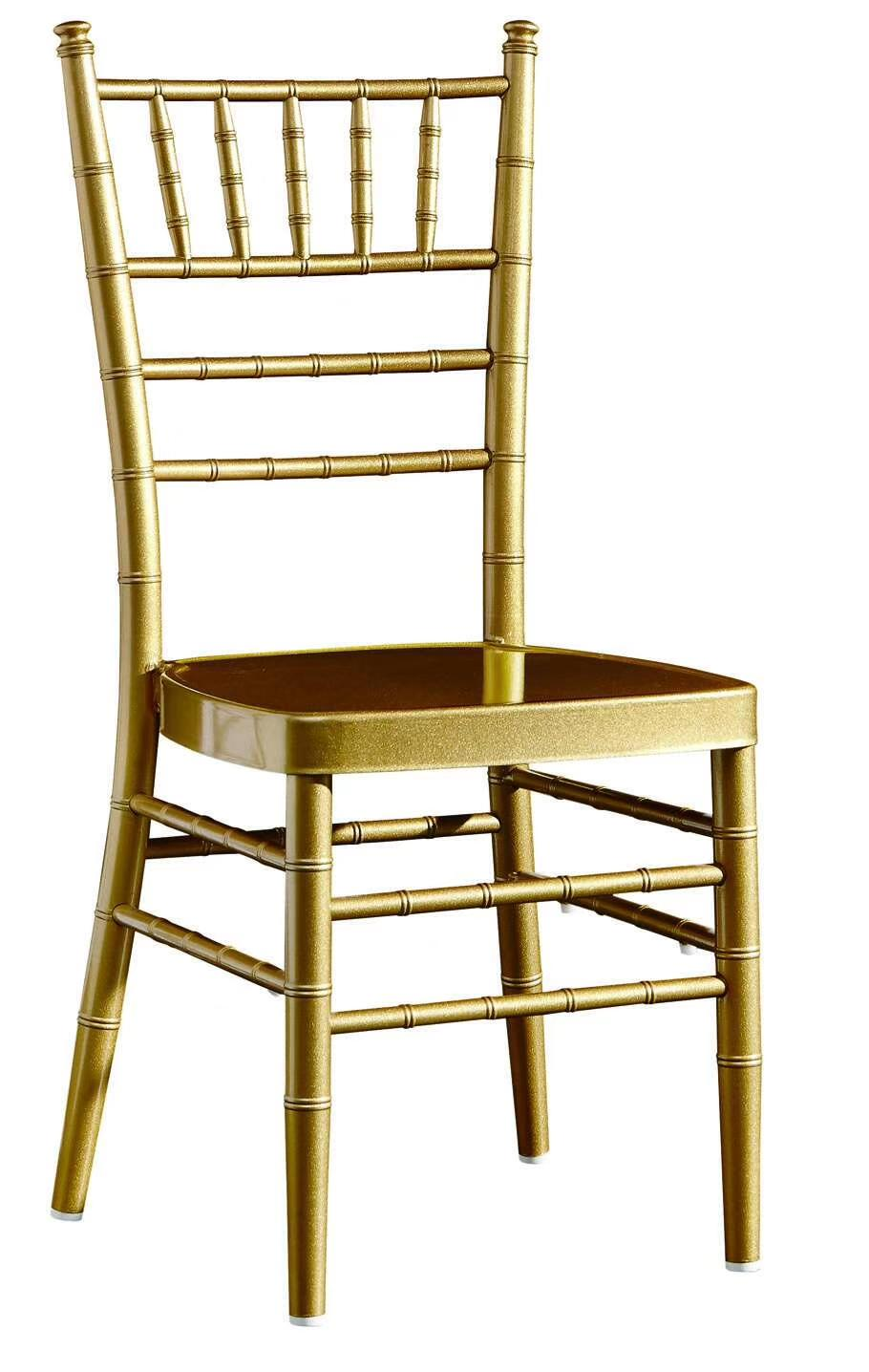 Hotel Banquet Chair Aluminum Tiffany Chair With Detachable Cushion YC-002