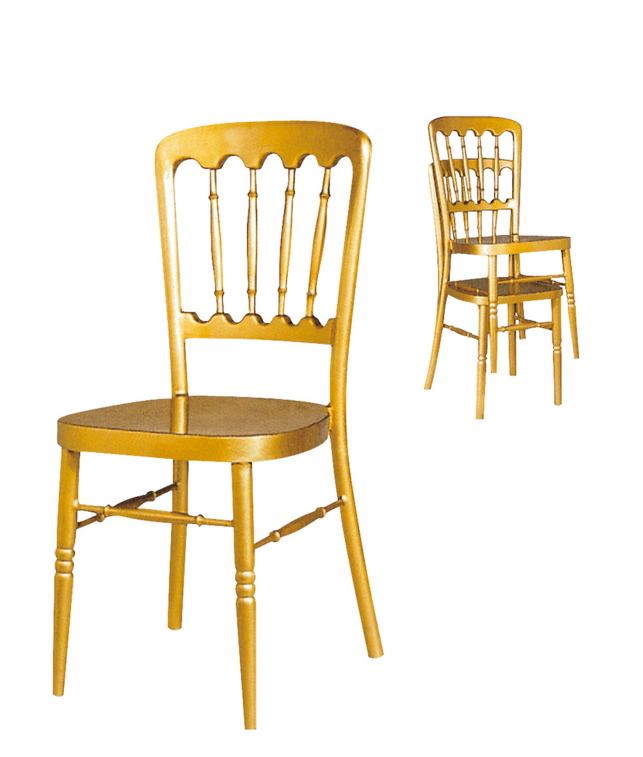 Classic Castle Golden Napolen Stackale Chair YC-009