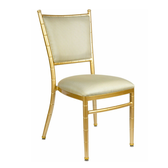 Wedding Event Party Hall  Napoleon Chair Golden Upholstered Furniture YC-010