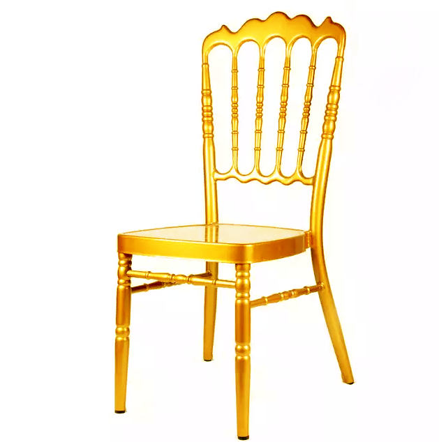 Gold Painting Aluminum Hotel Banquet Wedding Napoleon Chair YC-020