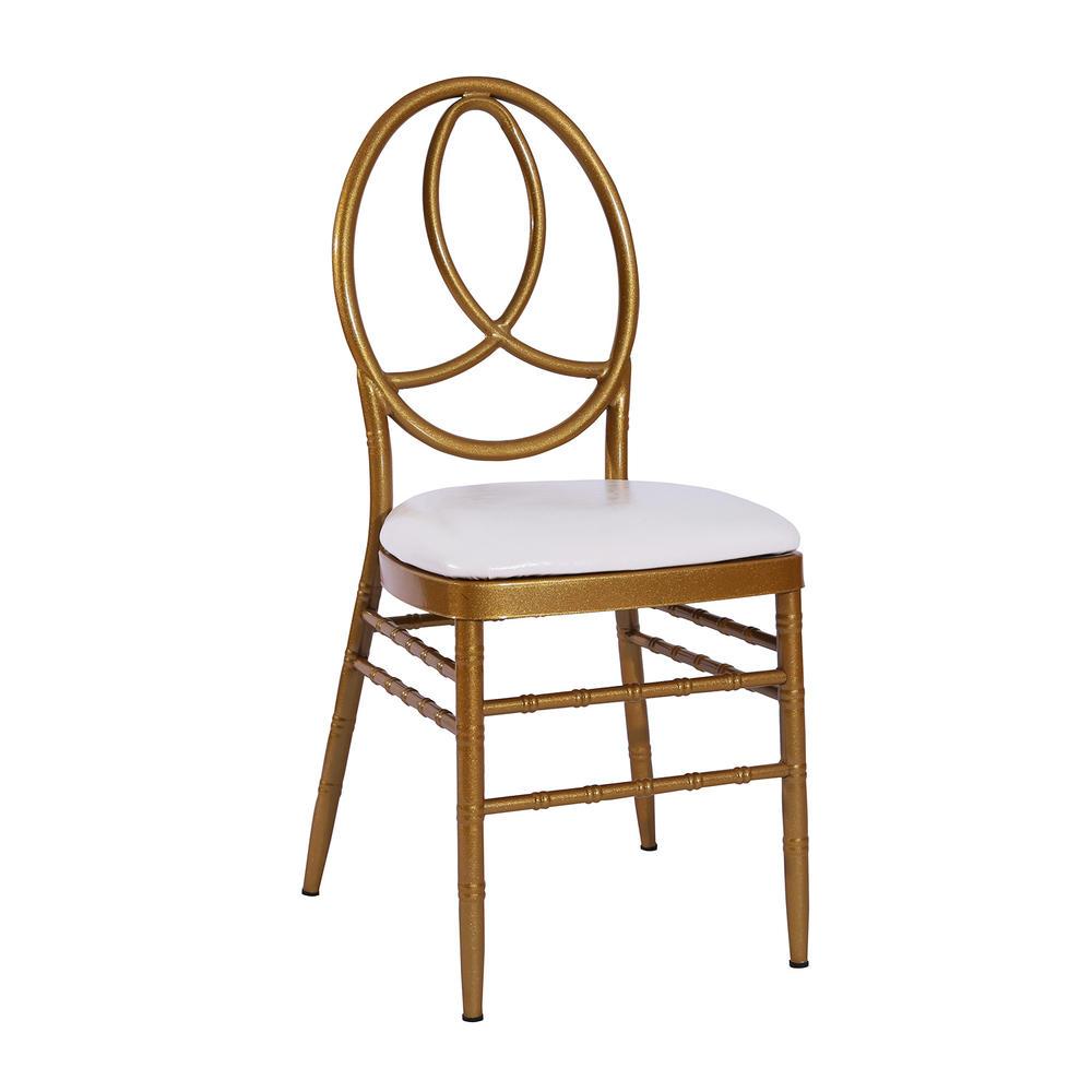 Cheap Gold Painting Steel Hotel Banquet Wedding Phoenix Chair YC-022