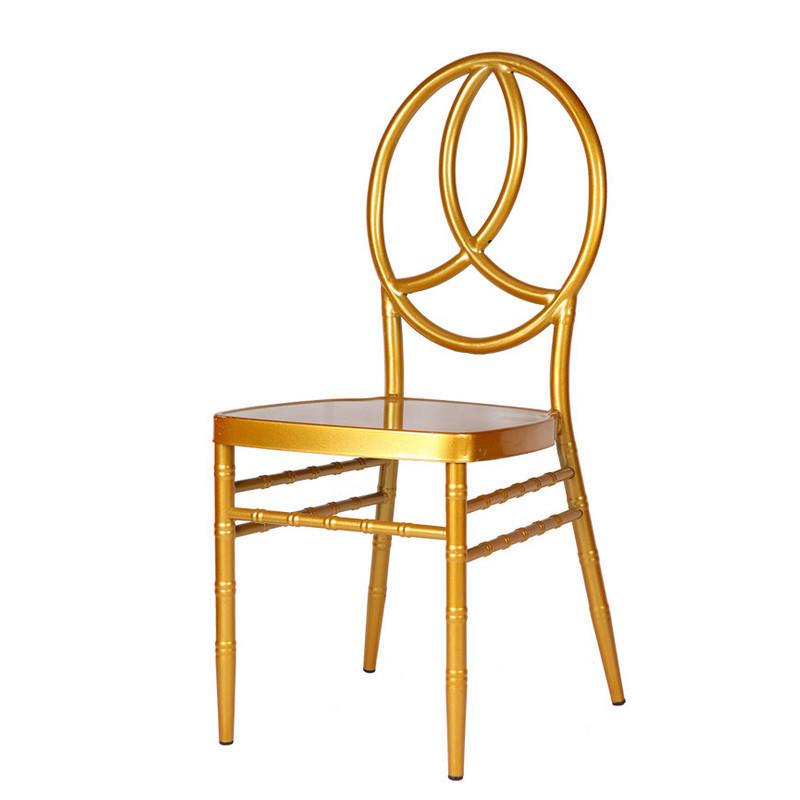 Cheap Gold Painting Steel Hotel Banquet Wedding Phoenix Chair YC-023