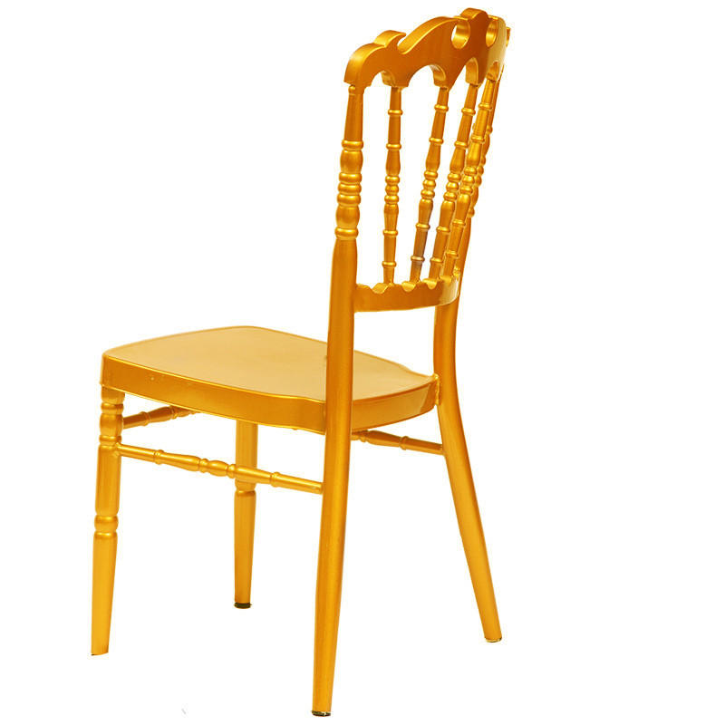Flame Top Design Golden Paint Banquet Party Hall Metal Napoleon Chair YC-028