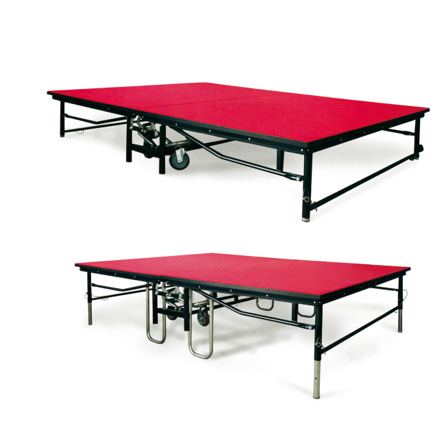 6 foot banquet table & mobile folding stage