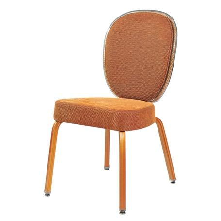 Plastic Edge Banquet Rocking Back  Aluminum Stacking Chair YB-001