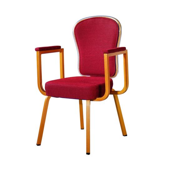 Wholesale Hotel Sway Back Aluminum Stacking Armrest  Chair YB-011