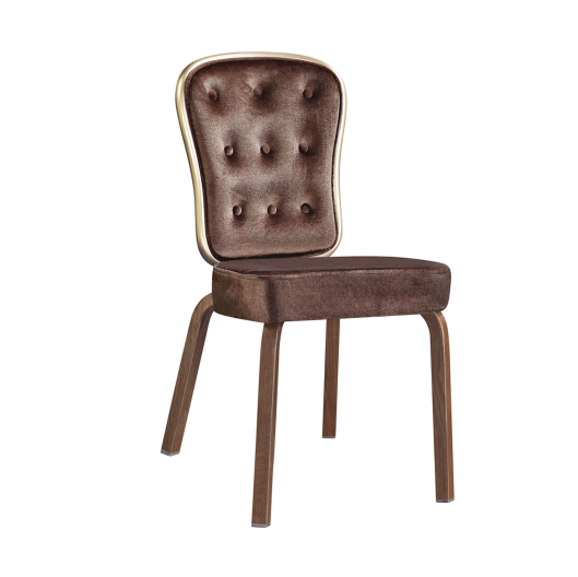 Button Design Hotel  Restaurant Sway Back Aluminum Stackable Chair YB-012