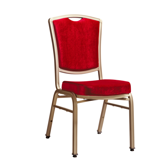 Hospitality Oil Painting Color Flexible Back Aluminum Stacking Chair YB-015