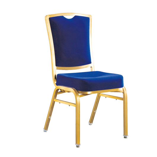 Navy Blue Fabric Hospitality Banquet Meeting  Metal Aluminum Flexible Back Stacking Chair YB-017