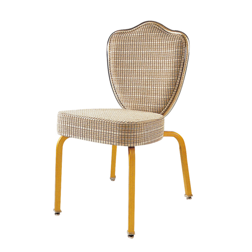 Flower Design Rental Aluminum Flexible Back Stackable Chair YB-018