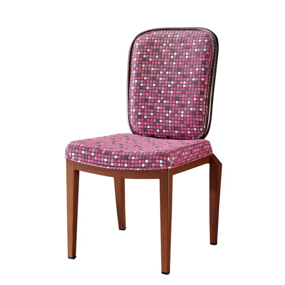 Metal Imitation Wood Chair Flexible Back Restaurant Chair YB-021