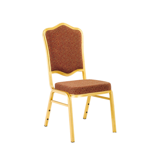 Hotel Party Stacking Chair Aluminum Alloy Flower Back Design Chair YD-005