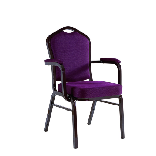 Hotel Office Stacking Chair Aluminum Armrest Chair YD-010