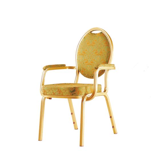 Comforatble Armrest Hotel Stackable Aluminum Chair YD-011