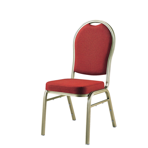 Hotel Meeting Room Aluminum Stackable Upholstered Chair YD-016