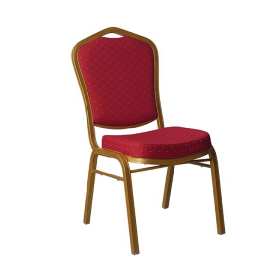 Red fabric Upholstered Aluminum Stackable Church Chair YD-019