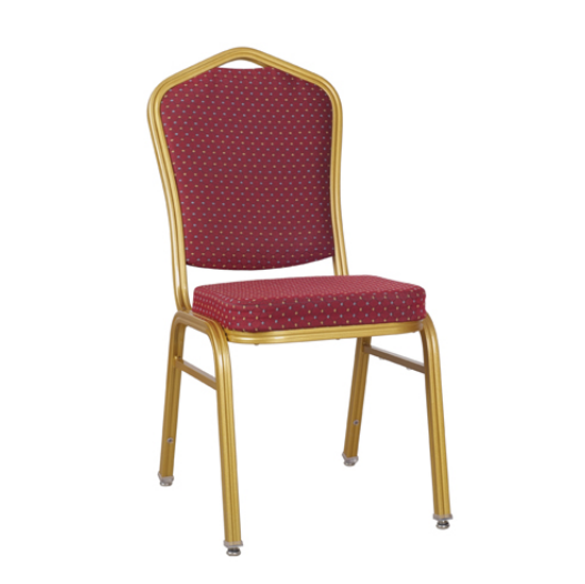 Dining Room Aluminum Chair Stackable Golden Painting Hotel Chair YD-020