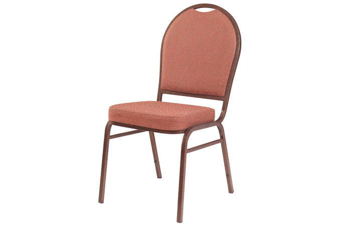 Promotion Stacking Iron Chair Hotel Fabric Chair YE-001
