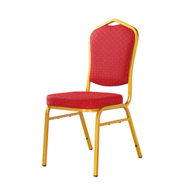 Cheap Wedding Iron Stack Chair Hotel Velvet Chair YE-005