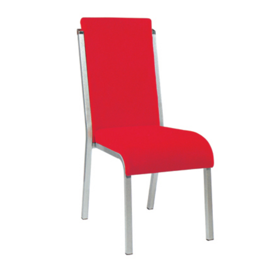 High Back Wedding Red Fabric Wholesale Chair Iorn Chair YE-022