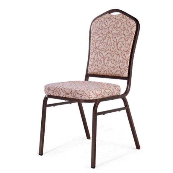 Special Flower Back Design Restaurant Steel Stacking Chair YE-027