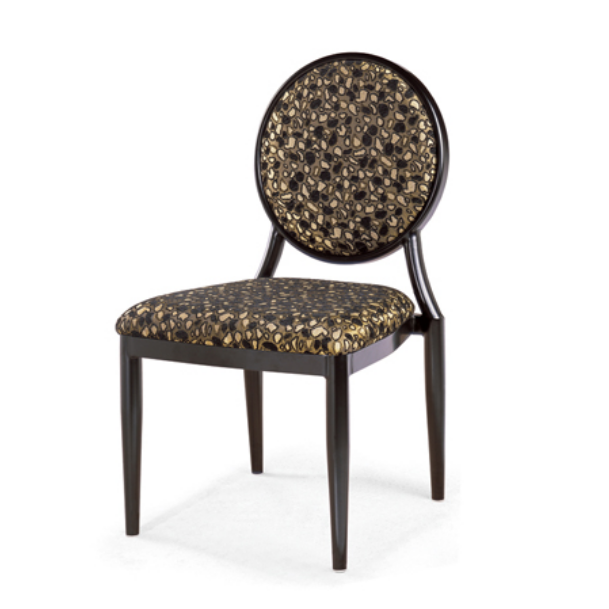 Round Back Upholsterted Restaurant Steel Metal Stacking Chair YE-029
