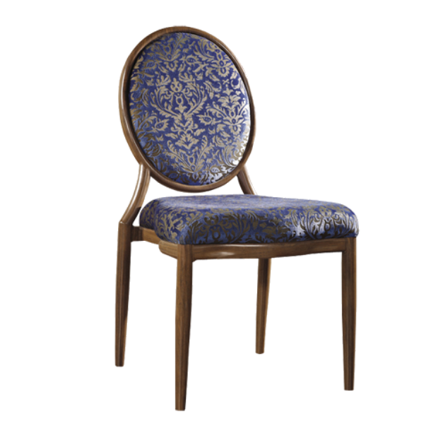 Oval Back Design Antique Wood Restaurant Stacking Chair YE-030