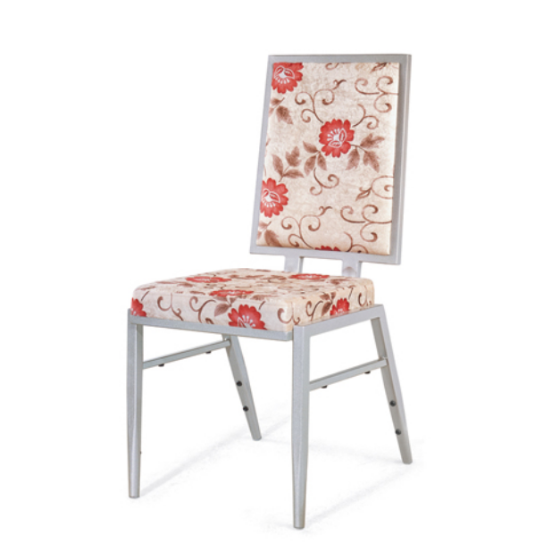 Fashion Square Back Design Flexible Back Steel Stacking Chair YE-034