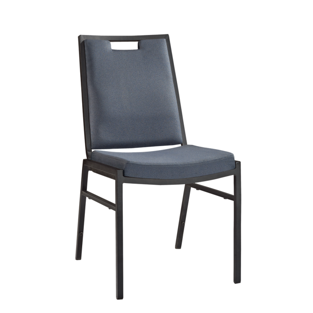 Comfortable Design Fabric Hospitality Meeting Room Iron Steel Stacking Chair YE-039